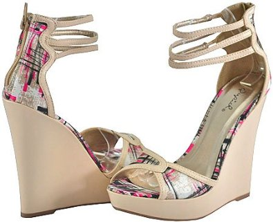 55ce4715447af3 Qupid Enrich-58 Pink Multi Women Wedge Sandals