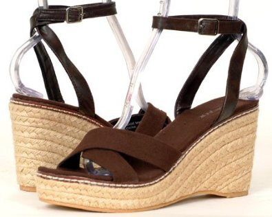 9b55878940fb1b Womens Brown Wedges Platforms DENIM Shoes Sandals